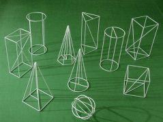 Set de 10 corpuri geometrice din sarma