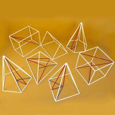 Set de 7 corpuri geometrice din sarma