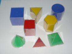 Set de 8 figuri geometrice din plastic, desfasurabile