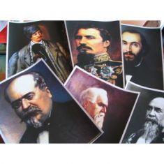 Personalitati de seama din istoria Romaniei - 8 planse alb/negru - A4