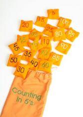 Saculeti cu granule - Numere - Sa numaram din 5 in 5
