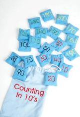 Saculeti cu granule - Numere - Sa numaram din 10 in 10
