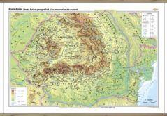 Romania: Harta fizico-geografica si a resurselor naturale de subsol