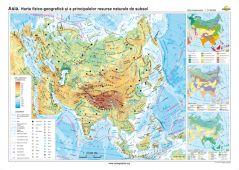 Asia: Harta fizico-geografica si a principalelor resurse naturale de subsol