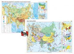 Asia: Harta fizico-geografica / Asia: Harta politica - DUO PLUS