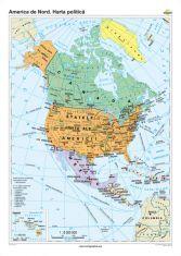 America de Nord: Harta politica