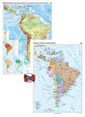America de Sud: Harta fizico-geografica / Harta politica, DUO PLUS