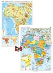 Africa. Harta fizico-geografica / Africa: Harta politica  - DUO PLUS