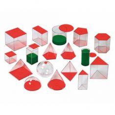 Set cu 17 forme geometrice - Solids - 10 cm