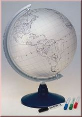 Glob geografic cu harta in contur Lavagna