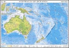 Australia si Oceania. Harta fizica