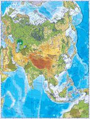 Asia. Harta fizica
