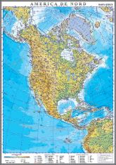 America de Nord. Harta fizica