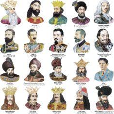 Voievozi, domni si regi romani (20 portrete) - A3