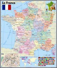 """Harta murala  """"La France"""""""
