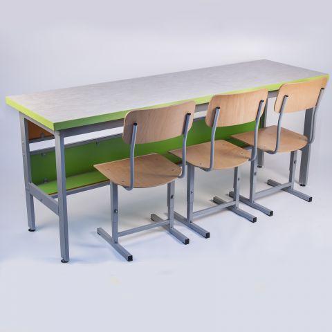 Masa de laborator GAMMA pentru 3 elevi
