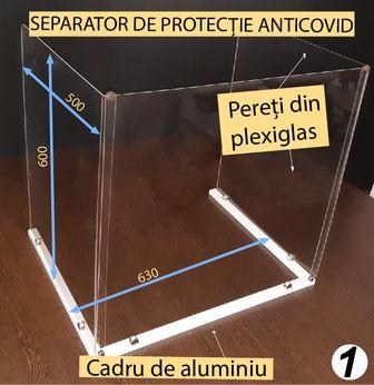 SEPARATOR DE PROTECȚIE ANTI-COVID DIN PLEXIGLAS PENTRU BANCI SCOLARE